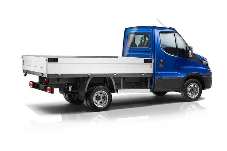 Iveco Daily 35C 3450 DRW 2.3 D HPI 16V DRW 156PS  Dropside Double Cab HiMatic [Start Stop] back view