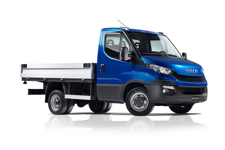 Iveco Daily 35C 3450 DRW 2.3 D HPI 16V DRW 156PS  Dropside Double Cab HiMatic [Start Stop] front view
